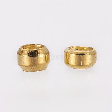 Brass Crimp Beads(X-E002-G-NR)-2