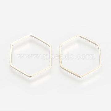 Light Gold Hexagon Brass Linking Rings