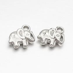 Ccb пластиковые слоны прелести, платина, 11x12x3.5 мм, отверстие : 2 мм(CCB-J027-10P)