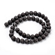 Natural Snowflake Obsidian Beads Strands(G-Q462-72-10mm)-3