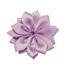 Main tissé mediumorchid accessoires de costumes de fleurs, 37x37x7mm(X-WOVE-QS17-7)
