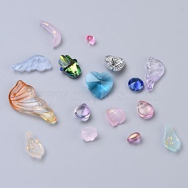 pendentifs / cabochons / perles en verre de style mixte(FIND-XCP0005-01A)-1