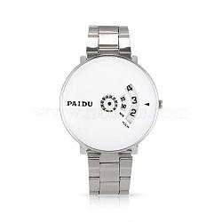 Paidu марки высококачественной нержавеющей стали кварцевые часы, цвет нержавеющей стали, 63 мм; голова часы: 43.5x44x10 мм; лицо часов: 41x41 мм.(WACH-N004-23A)