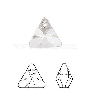 Austrian Crystal Rhinestone Pendant, 6628, Crystal Passions, Xilion Triangle, 001_Crystal, 8x8x5mm, Hole: 1mm(6628-8mm-001(U))