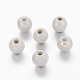 Pearlized White Handmade Porcelain Round Beads(X-PORC-D001-10mm-04)-1
