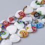 10mm Mixed Color Heart Millefiori Lampwork Beads(LAMP-T005-26)