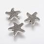 14mm Starfish Alloy Beads(X-PALLOY-F202-22AS)