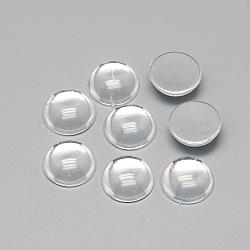 cabochons acryliques transparents, demi-tour / dôme, Retour plaqué, effacer, 8x3.5~4 mm(X-GACR-Q014-8mm-02)