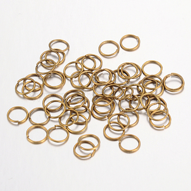 Iron Close but Unsoldered Jump Rings(X-IFIN-A018-10mm-AB-NF)-1