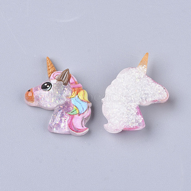 22mm Colorful Unicorn Resin Cabochons