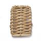Handmade Reed Cane/Rattan Woven Beads(X-WOVE-Q075-09)-2