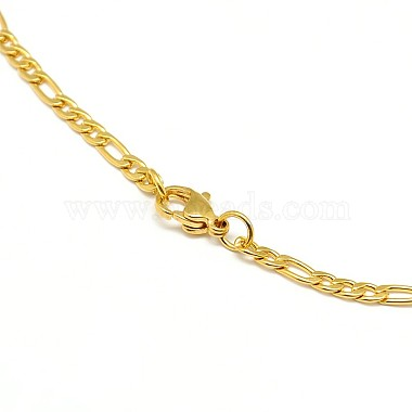 304 Stainless Steel Figaro Chain Necklace Making(X-STAS-A028-N022G)-3