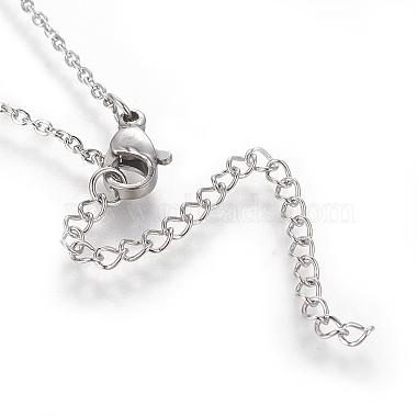 Brass Initial Pendant Necklaces(NJEW-I230-24P-J)-2