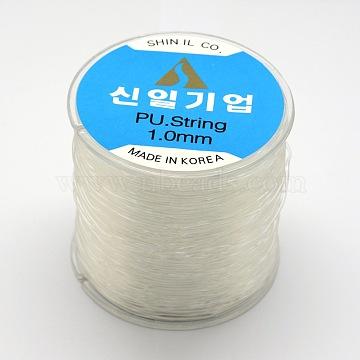 Korean Elastic Crystal Thread, Clear, 0.8mm, about 164.04 yards(150m)/roll(EW-F003-0.8mm-01)