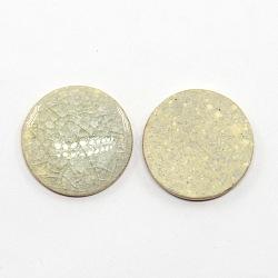 плоские круглые ручной работы хрустят фарфоровые кабошоны, хаки, 20x4 mm(X-PORC-P001-15)