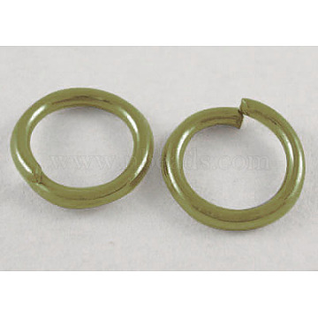 Iron Jump Rings, Close but Unsoldered, Nickel Free, Round, Antique Bronze, 21 Gauge, 6x0.7mm; Inner Diameter: 5mm; about 550pcs/50g(X-JR6MM-NFAB)