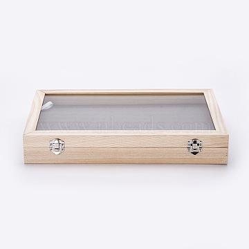 AntiqueWhite Velvet+Wood Presentation Boxes