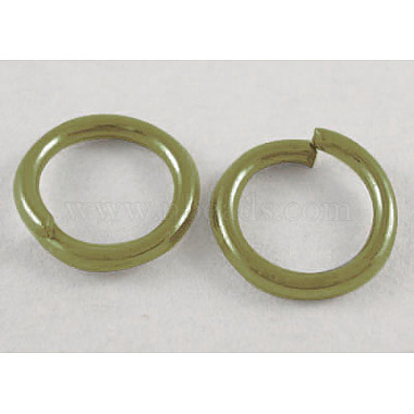 Antique Bronze Ring Iron Close but Unsoldered Jump Rings