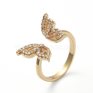 Clear Brass+Cubic Zirconia Finger Rings