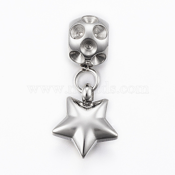 Stainless Steel Color Star Stainless Steel European Beads
