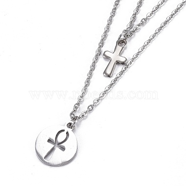 304 Stainless Steel Tiered Necklaces(X-NJEW-JN02350-02)-2