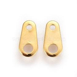 Onglets de chaîne en 316 acier inoxydable, connecteurs d'extension de chaîne, or, 8x4x0.5mm, trou: 1 mm et 1.8 mm(STAS-I100-30A-G)