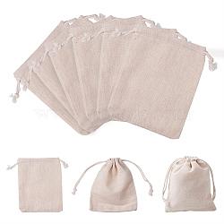 Pochettes d'emballage en coton, blé, 14x11 cm, 30 pièces / kit(ABAG-PH0002-19)