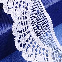 """Fil de nylon de garniture de dentelle pour la fabrication de bijoux, blanc, 1-1/4"""" (33 mm); 200yards / roll (182.88m / roll)(OCOR-I001-063)"""