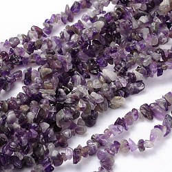 Natural Amethyst Beads Strands, Chips, 5~9x5~9mm; Hole: 1mm