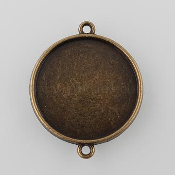 Antique Bronze Flat Round Alloy Links