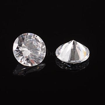 Clear Grade A Diamond Shaped Cubic Zirconia Cabochons, Faceted, 4x2.5mm(X-ZIRC-M002-4mm-007)