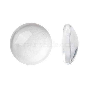 Transparent Glass Cabochons, Half Round/Dome, Clear, 9.5~10x3.5mm(X-GGLA-R026-10mm)