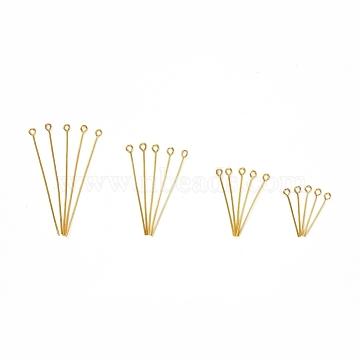 Iron Eye Pin, Golden, 20mm/30mm/40mm/50mmx0.7mm, Hole: 2mm, 600pcs/box(IFIN-X0051-06G)