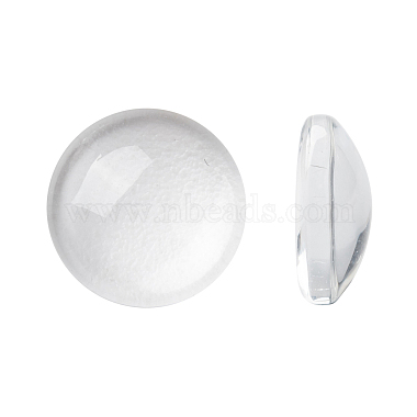 10mm Clear Half Round Glass Cabochons