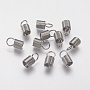 Stainless Steel Color Stainless Steel Cord Ends(X-STAS-F141-21P-10x5)