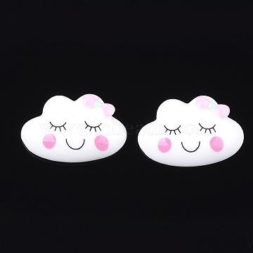 Resin Cabochons, Cloud, Creamy White, 17x26x6mm(X-CRES-Q210-03A)