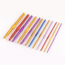 Crochets aléatoires en aluminium de couleur simple, une seule couleur par sac, broche: 3.5 mm; 148x3 mm(TOOL-R058-04)