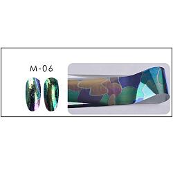 Autocollants d'ongle, feuilles de transfert nail art, colorées, 20x5 cm(MRMJ-R052-20F)