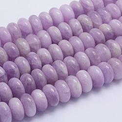 perles de kunzite naturel brins, rondelle, Grade A, 16~16.5x9~10 mm, trou: 1.5 mm; environ 44 perle / brin, 15.3 (39 cm)(G-L478-10-16mm)