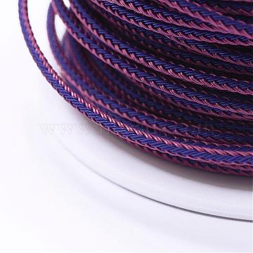 Braided Steel Wire Rope Cord, Jewelry DIY Making Material, Medium Orchid, 2.5mm, about 10yards/roll(9.144m/roll)(OCOR-P003-2.5mm-01)