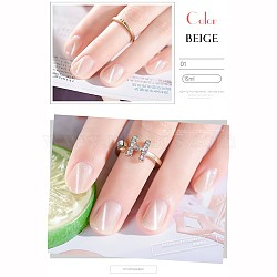 15ml/bouteille de gel pour les ongles en résine environnementale, gel pour les yeux de chat de fleur de cerisier, beige, 3.3x8.1 cm(MRMJ-F008-19A)