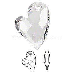 strass cristal autrichien, 6261, passions de cristal, facettes consacré 2 Pendentif coeur u, 001 _crystal, 17x12x3 mm, trou: 1.5 mm(X-6261-17mm-001(U))