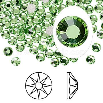 Austrian Crystal Rhinestone Cabochons, Crystal Passions, Foil Back, Xirius Rose, 2088, 214_Peridot, 3.8~4mm(X-2088-SS16-214(F))