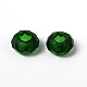 Fascinating No Metal Core Rondelle DarkGreen Charm Glass Large Hole European Beads Fits Bracelets & Necklaces(X-GDA007-18)-3
