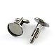 Brass Cuff Buttons(X-KK-Q574-12mm-B)-1