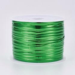 Attaches métalliques des plastiques, avec noyau de fer, verte, 4x0.2 mm; environ 100 mètres / rouleau (300 pieds / rouleau)(AJEW-WH0092-06B)