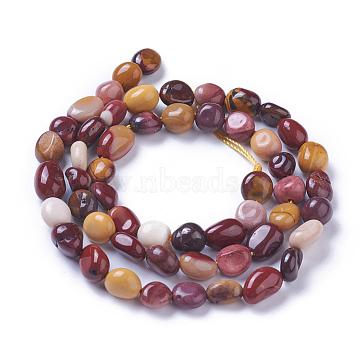 perles de Mookaite naturel brins, nuggets, 6~9x4~8 mm, trou: 1 mm sur 52~55 perle / Chapelet, 15.55 15.7 cm)(G-P433-17)