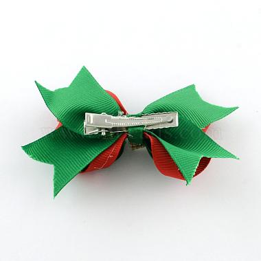 Noël gros-grain bowknot alligator pinces à cheveux(PHAR-R167-12)-2