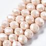 Misty Rose Rondelle Glass Beads(EGLA-A034-P10mm-A17)