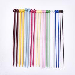 Вязальные пластиковые спицы, разноцветные, 250x10~13x6~9.5 мм, штифт: 2.0мм / 2.5мм / 3мм / 3.5мм / 4мм / 4.5мм / 5мм / 5.5мм / 6мм / {10}мм; {11}pcs / комплект(TOOL-T006-19)